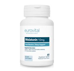 MELATONIN 10mg (schnell auflösend) (Fruchtgeschmack) 60 Vegetarische Tabletten