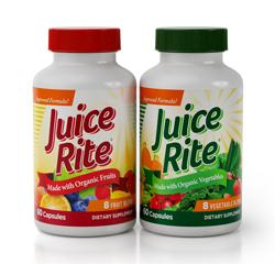 JUICE-RITE Frutas y Verduras (Orgánica) Suministro para 1 mes