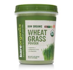 BareOrganics WHEATGRASS POWDER (Raw Organic) (8oz) 227g