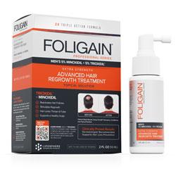 FOLIGAIN MINOXIDIL 5% HAIR REGROWTH TREATMENT For Men with 5% Trioxidil® (2oz) 59ml 1 Month Supply
