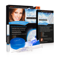 NuPearl PRO ADVANCED TEETH WHITENING SYSTEM (with BONUS WHITENING PEN) + SYSTEM REFILL PACK 4 Syringes VALUE PACK