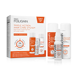FOLIGAIN COMPLETE HAIR REGROWTH SYSTEM For Men with Trioxidil® (3-Piece Starter/Trial Set)
