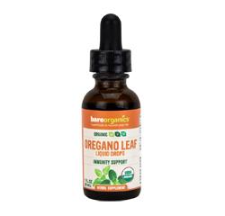 BareOrganics OREGANO LEAF LIQUID DROPS (Organic) (1 fl oz) 30ml