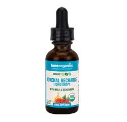 BareOrganics ADRENAL RECHARGE LIQUID DROPS (Organic) (1 fl oz) 30ml