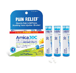 ARNICA MONTANA PAIN RELIEF 30C (Natural, Homeopathic) (80 Pellets per Tube) 3 Tubes