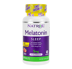 MELATONIN SLEEP 5mg (Extra Strength, Fast Dissolve) (Strawberry) 90 Tablets