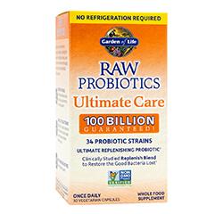 Eurovital Uk Raw Probiotics Ultimate Care 100 Billion Cfu 30 Vegetarian Capsules