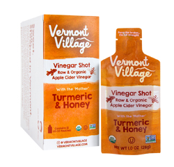 APPLE CIDER VINEGAR SHOT (Organic, Raw) (Turmeric & Honey) 12 Pouches