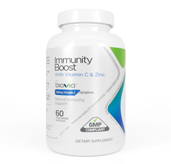IMMUNITY BOOST with Vitamin C, Vitamin D, and Zinc 60 Vegetarian Capsules