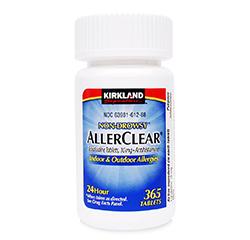 ALLERCLEAR Non-Drowsy (Loratadine 10 mg/Antihistamine) 365 Tablets
