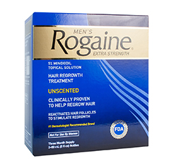 ROGAINE (REGAINE) EXTRA STRENGTH 5% MINOXIDIL HAIR REGROWTH TREATMENT For Men (3 Month Supply)