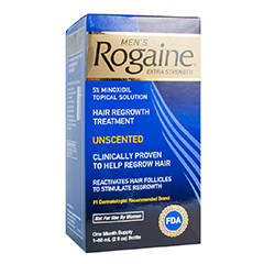 ROGAINE (REGAINE) EXTRA STRENGTH 5% MINOXIDIL HAIR REGROWTH TREATMENT For Men (1 Month Supply)