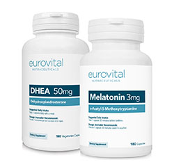 DHEA 50mg 180 Capsules + MELATONIN 3mg 180 Capsules VALUE PACK