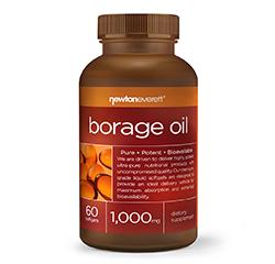 BORAGE OIL (STARFLOWER OIL) 1000mg 60 Softgels