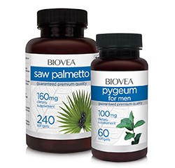 SAW PALMETTO & PYGEUM MENS PROSTATE HEALTH VALUE PACK