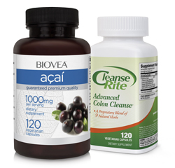 CLEANSE-RITE ADVANCED COLON CLEANSE & ACAI BERRY 1000mg VALUE PACK