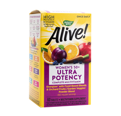 ALIVE! ONCE DAILY WOMENS 50+ MULTI-VITAMIN (Ultra Potency) 60 Tablets