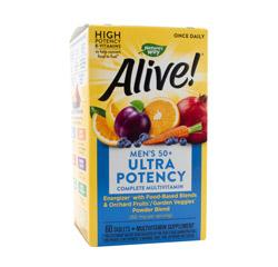 ALIVE! ONCE DAILY MENS 50+ MULTI-VITAMIN (Ultra Potency) 60 Tablets