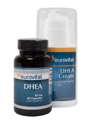 Dhea Cream & Dhea 50mg 60 Capsules Value Pack