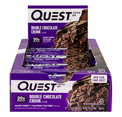 QUEST NUTRITION PROTEIN BAR (Double Chocolate Chunk) (Keto) 12 Bars