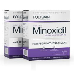 FOLIGAIN MINOXIDIL 2% HAIR REGROWTH TREATMENT For Women (12 fl oz) 360ml 6 Month Supply