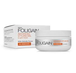 FOLIGAIN MINOXIDIL 5% HAIR REGROWTH STYLING GEL For Men (Light Hold) (2oz) 60ml